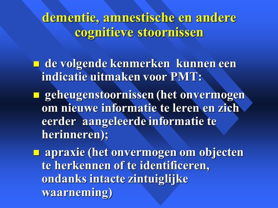 dementie, amnestische en andere cognitieve stoornissen