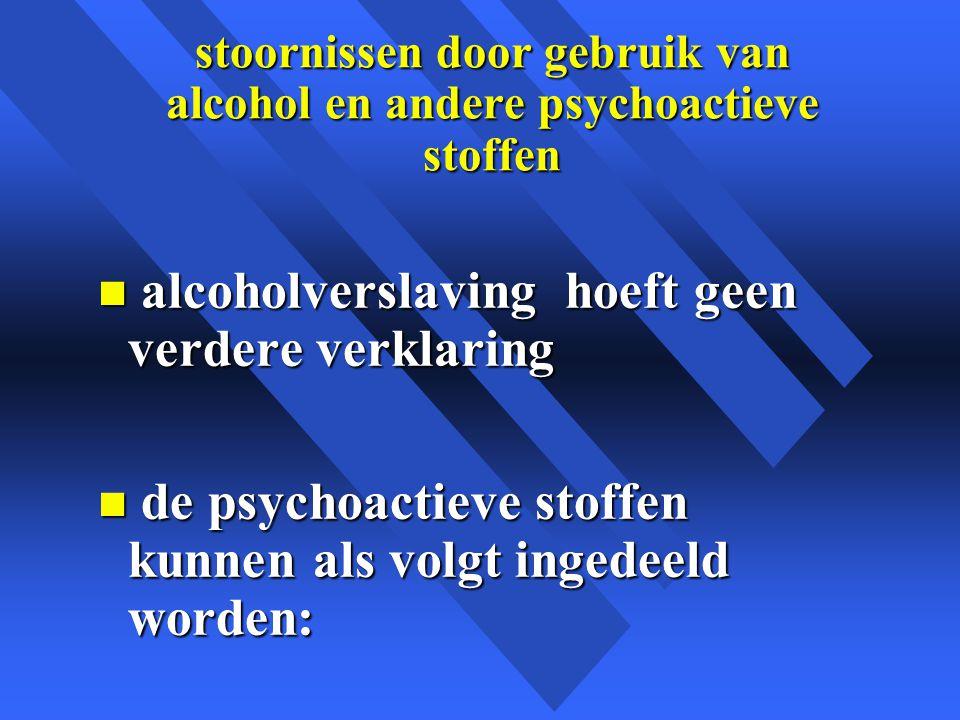 stoornissen door gebruik van alcohol en andere psychoactieve stoffen