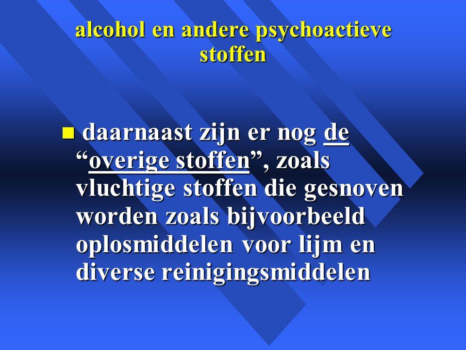 alcohol en andere psychoactieve stoffen