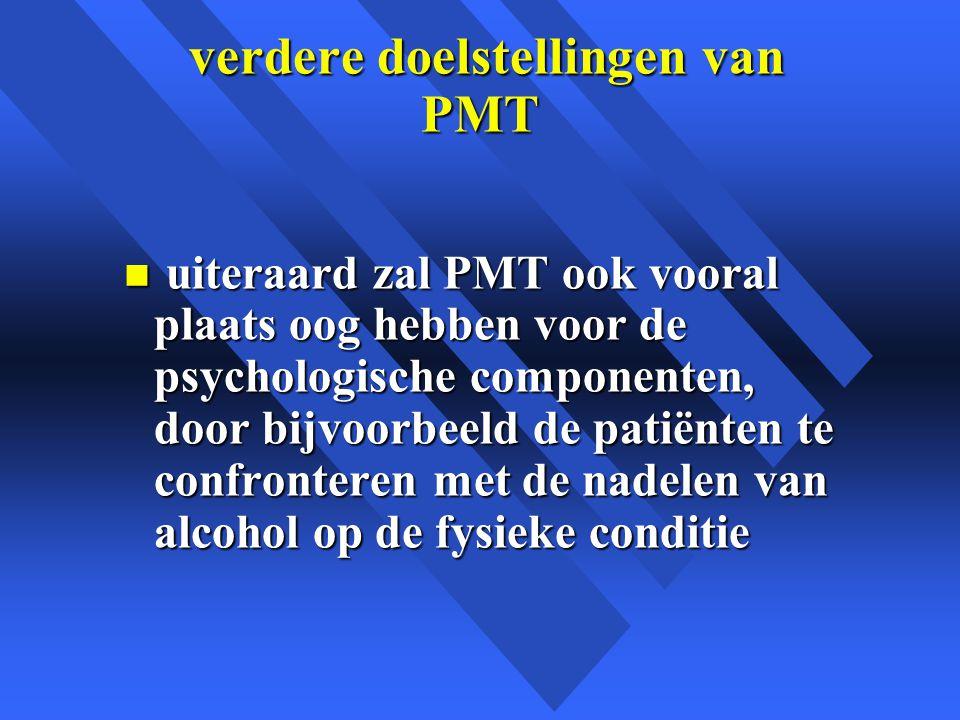 verdere doelstellingen van PMT