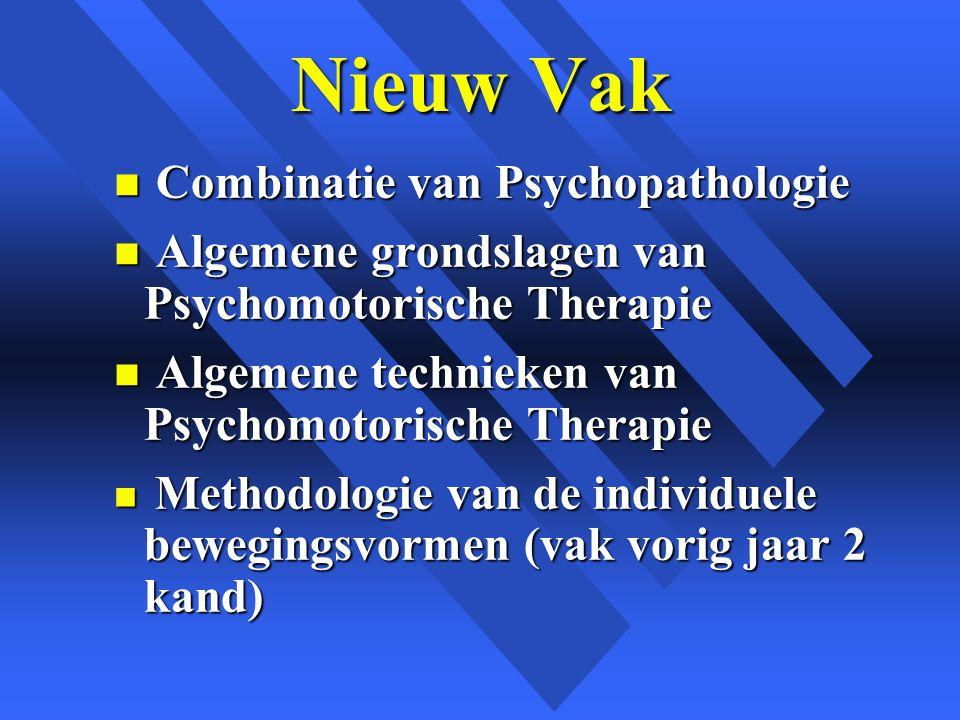 Nieuw Vak Combinatie van Psychopathologie