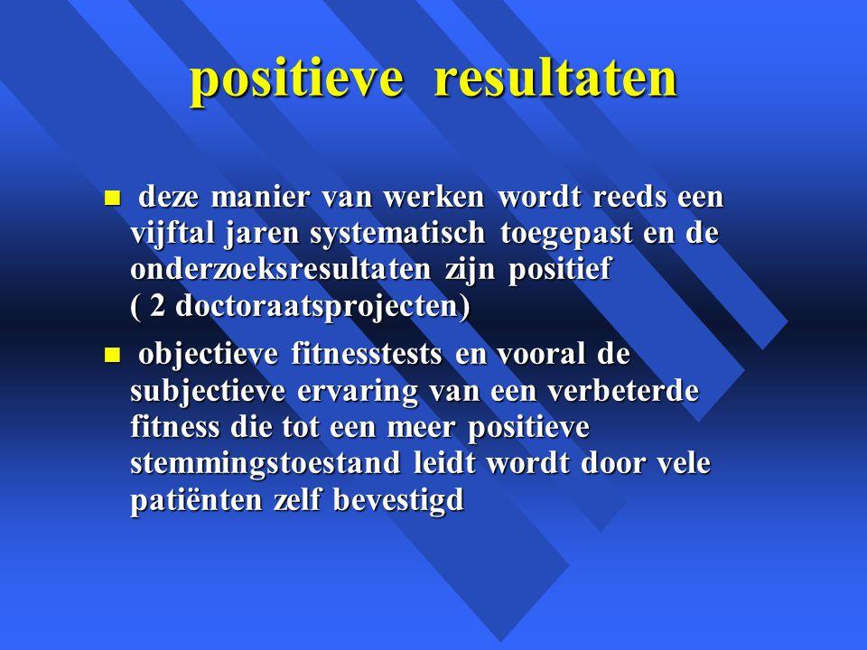 positieve resultaten