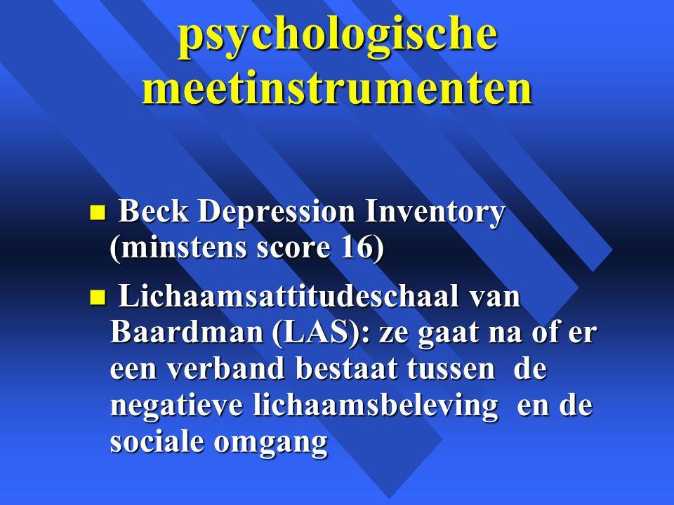 psychologische meetinstrumenten