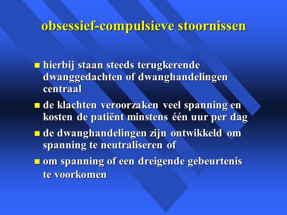 obsessief-compulsieve stoornissen