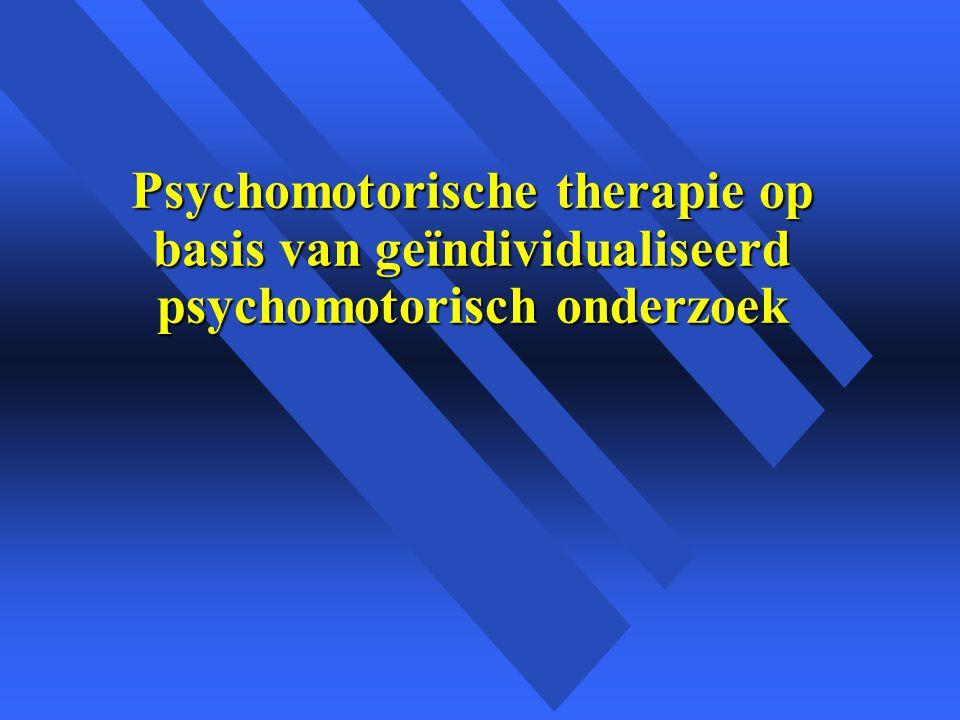 Psychomotorische therapie op basis van geïndividualiseerd psychomotorisch onderzoek