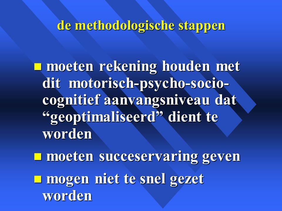 de methodologische stappen