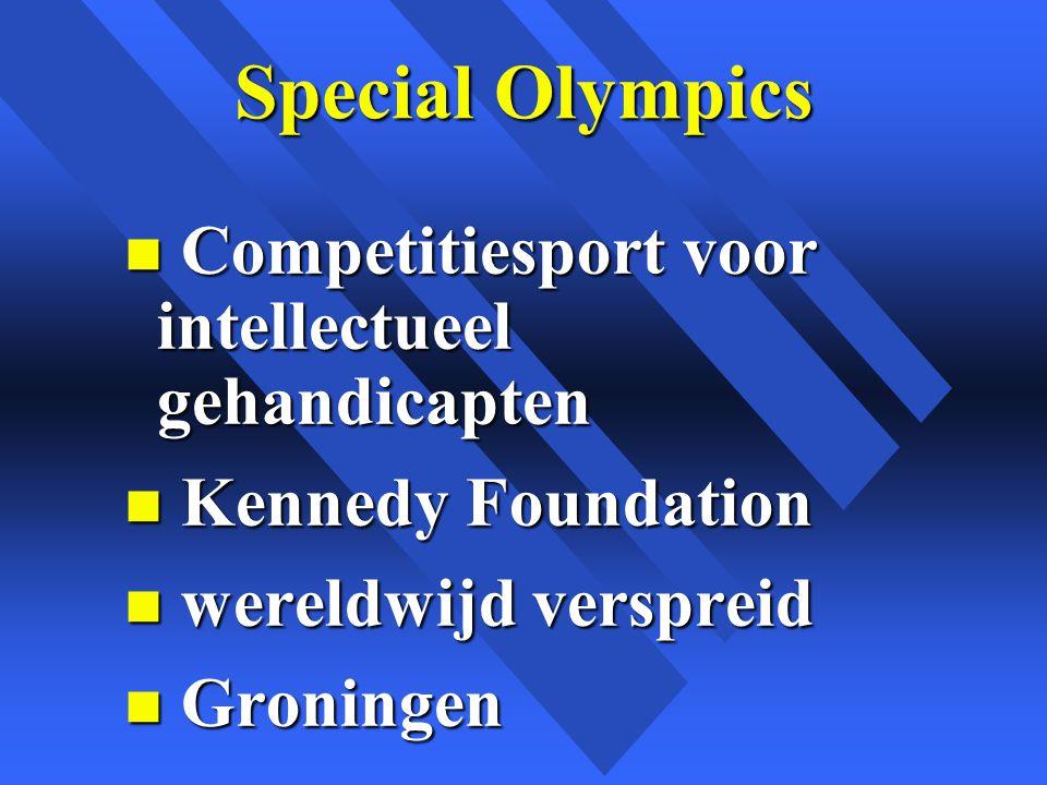Special Olympics Competitiesport voor intellectueel gehandicapten