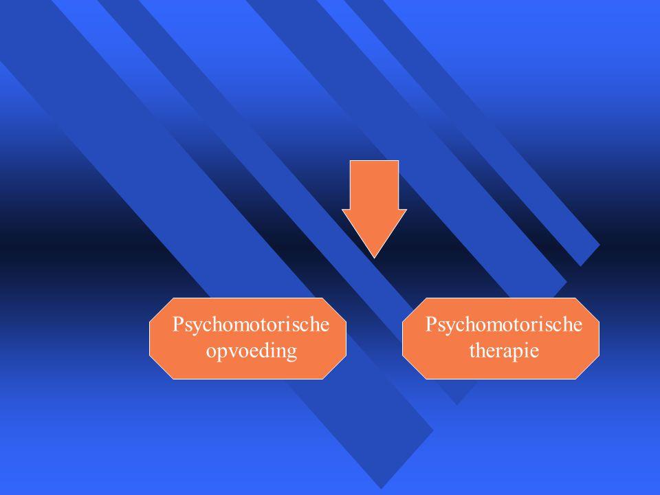 Psychomotorische opvoeding Psychomotorische therapie