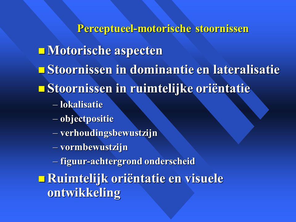 Perceptueel-motorische stoornissen