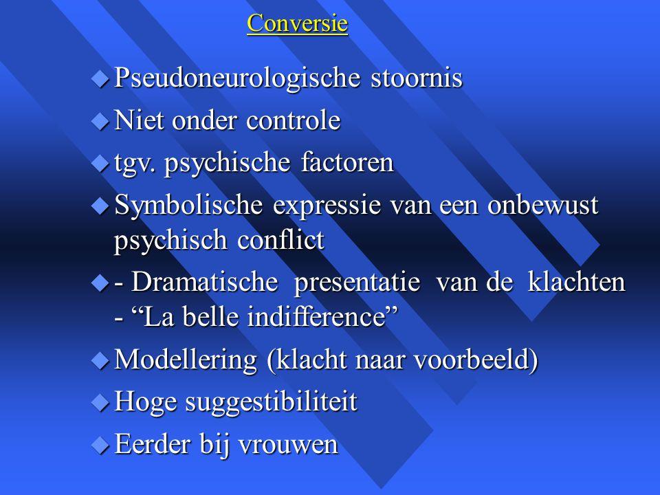 Pseudoneurologische stoornis Niet onder controle