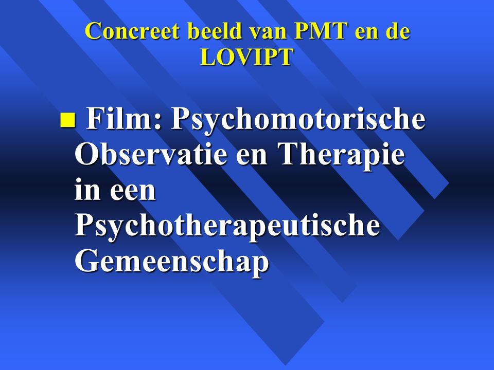 Concreet beeld van PMT en de LOVIPT