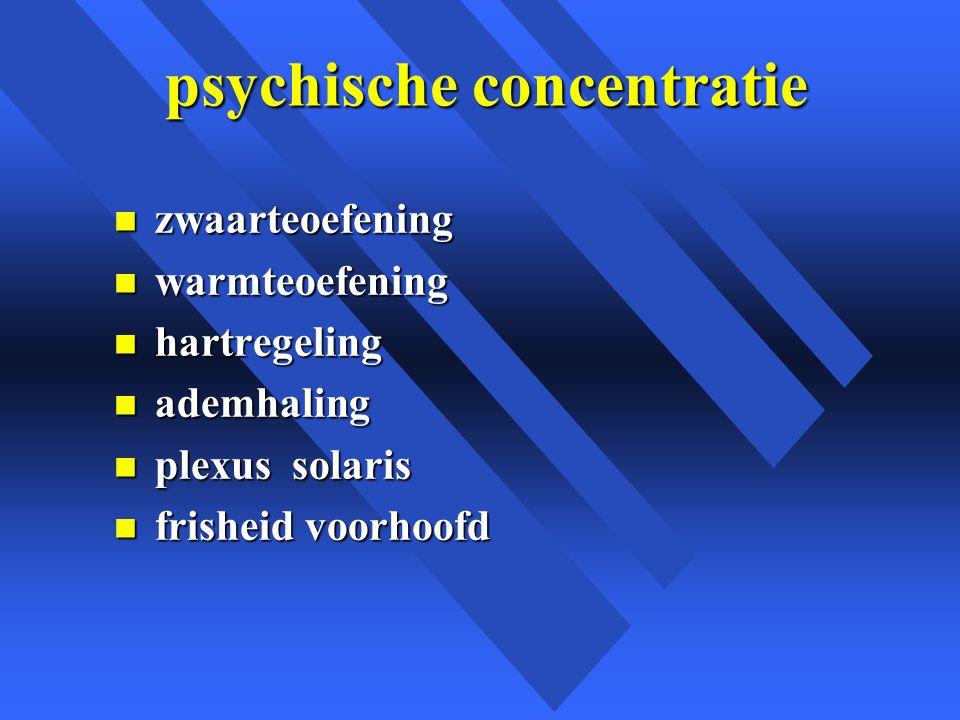 psychische concentratie