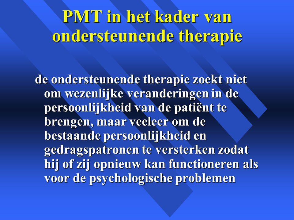 PMT in het kader van ondersteunende therapie