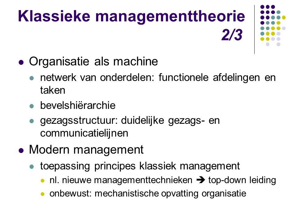 Klassieke managementtheorie 2/3
