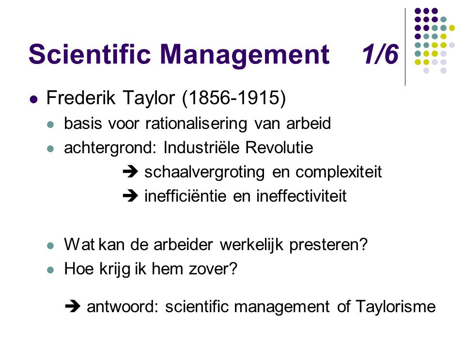 Scientific Management 1/6