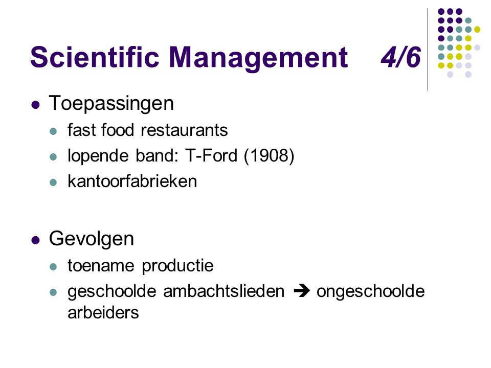 Scientific Management 4/6
