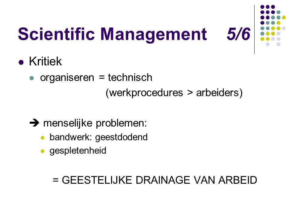 Scientific Management 5/6