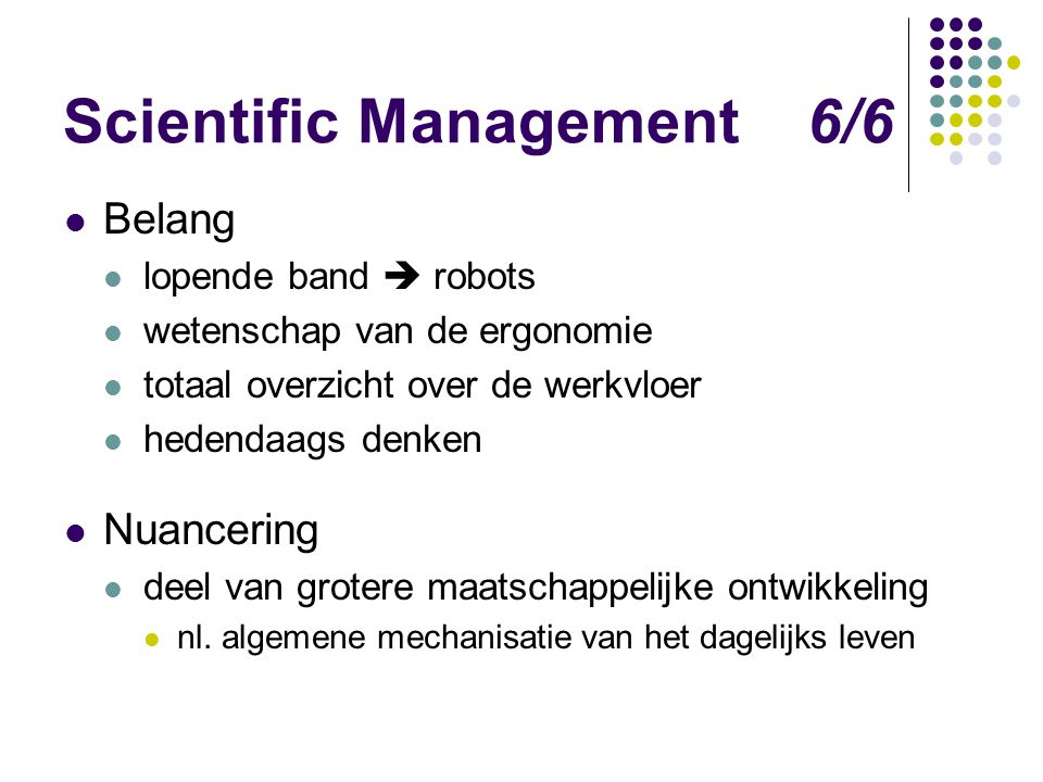 Scientific Management 6/6