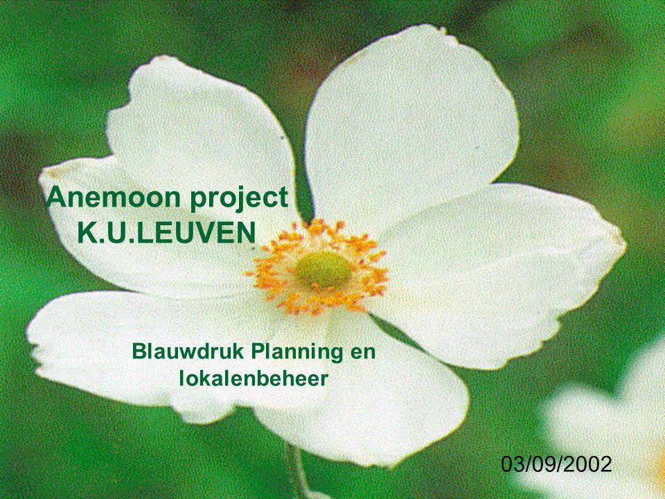 Anemoon project K.U.LEUVEN Blauwdruk Planning en lokalenbeheer