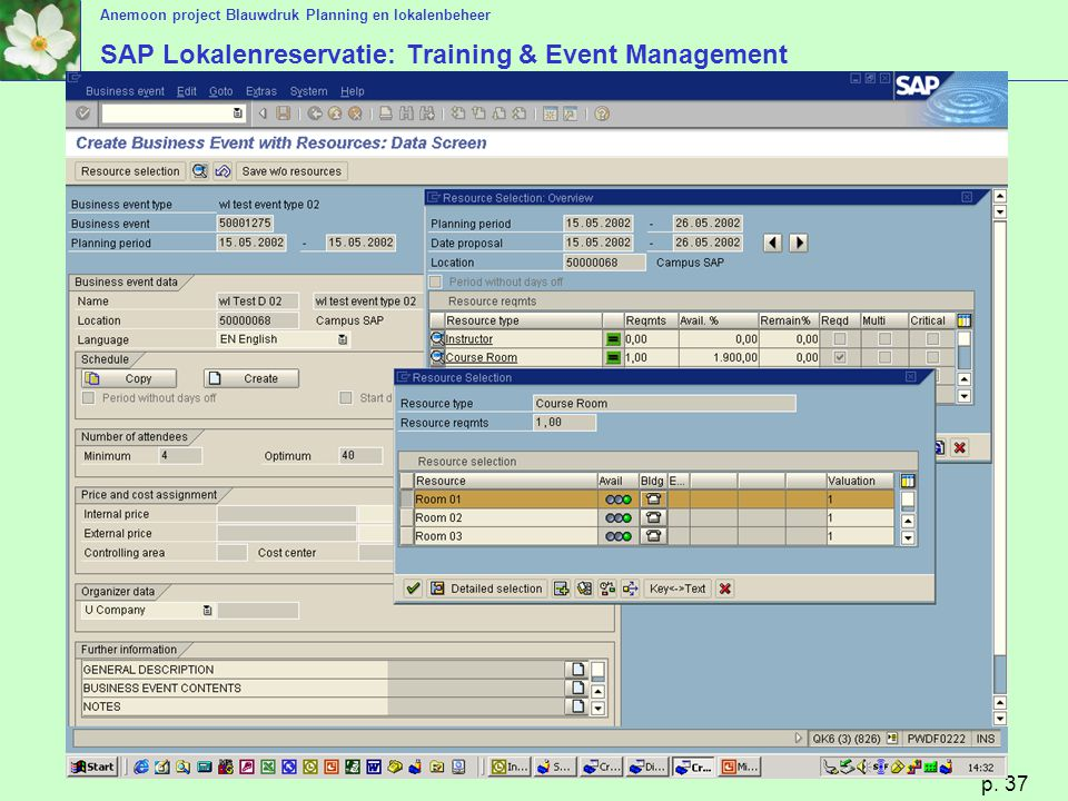 SAP Lokalenreservatie: Training & Event Management