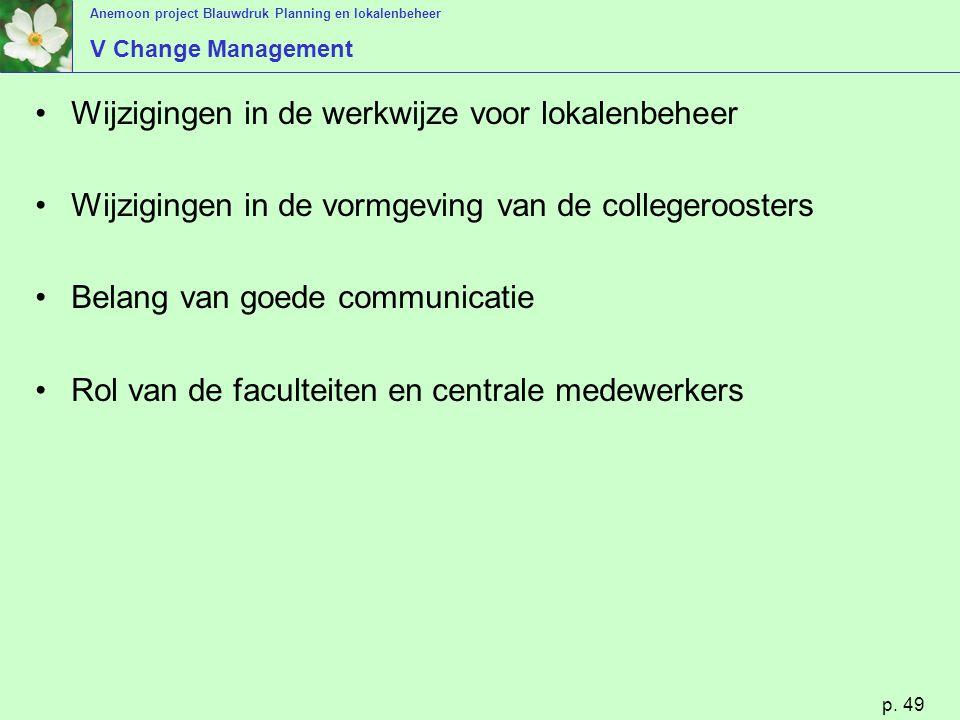 Wijzigingen in de werkwijze voor lokalenbeheer