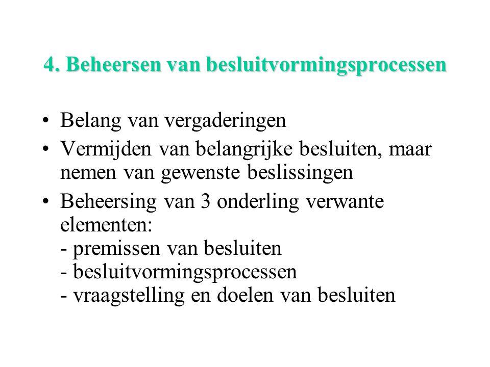 4. Beheersen van besluitvormingsprocessen