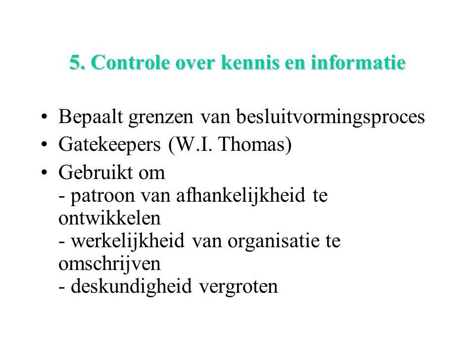 5. Controle over kennis en informatie