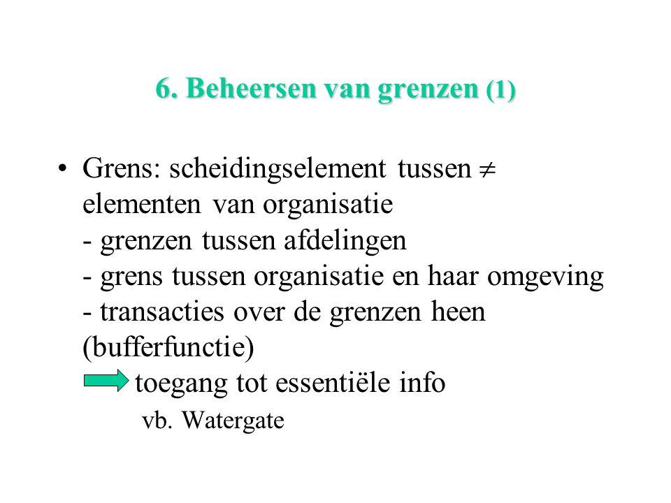6. Beheersen van grenzen (1)