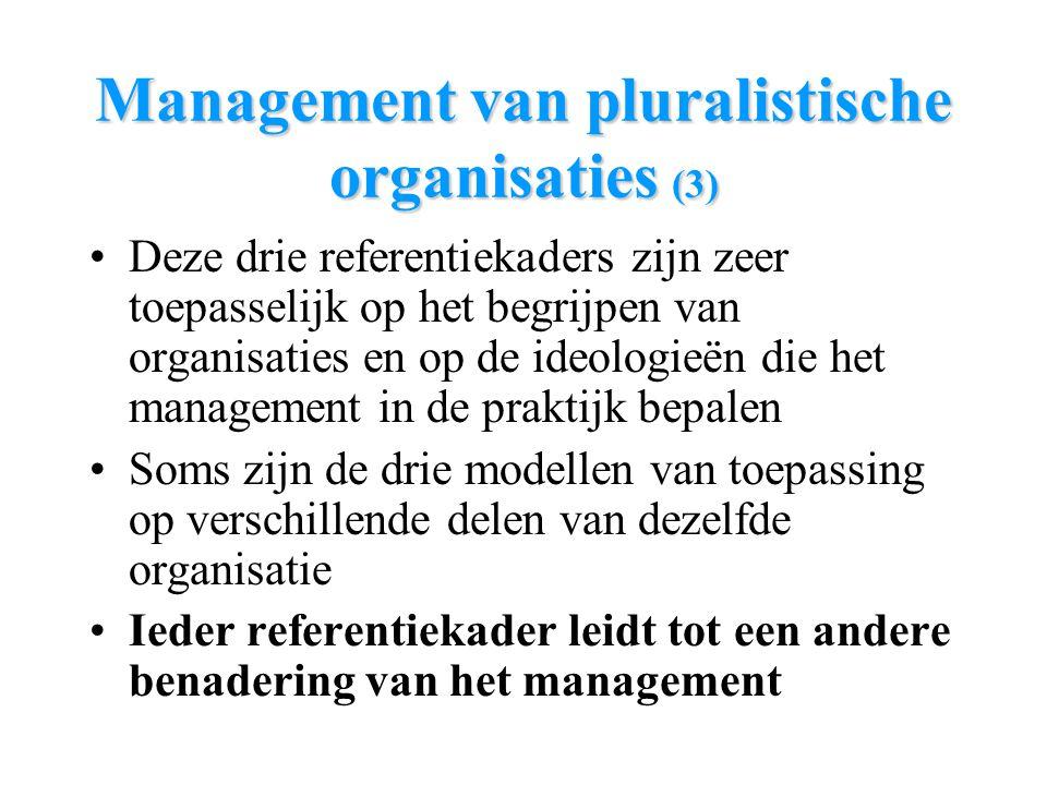 Management van pluralistische organisaties (3)