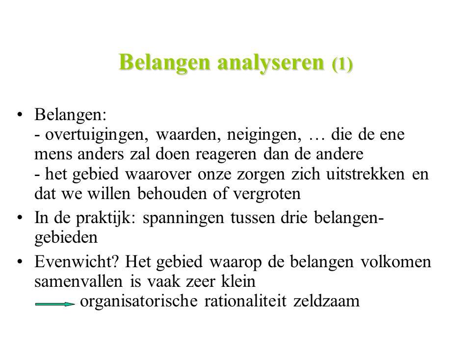Belangen analyseren (1)