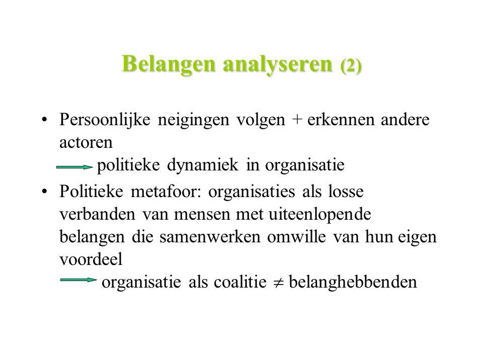 Belangen analyseren (2)