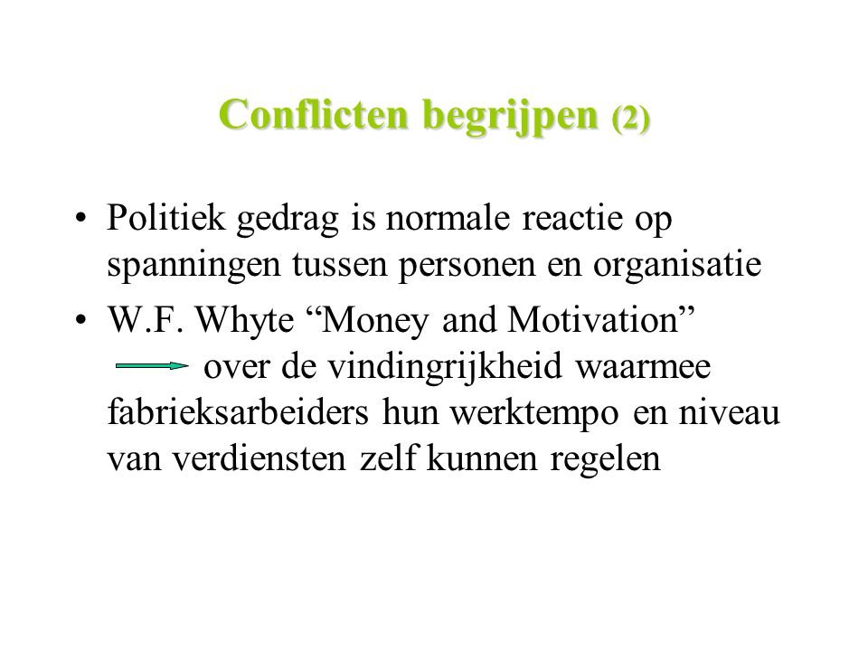 Conflicten begrijpen (2)