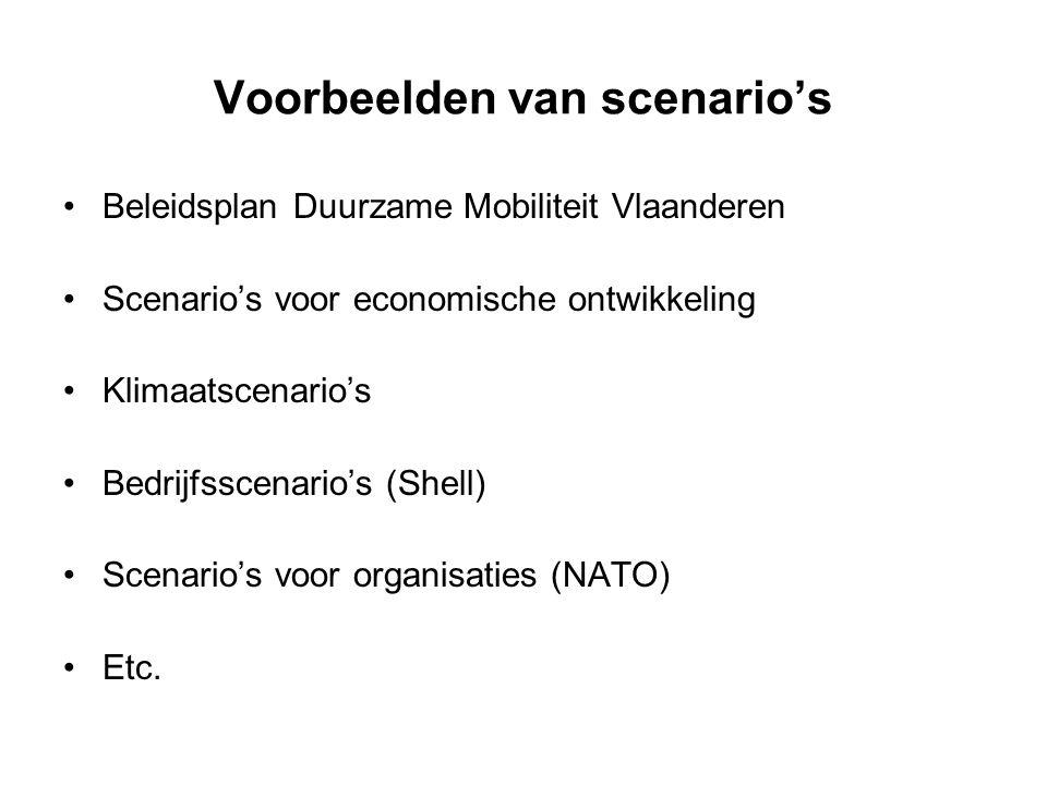 Voorbeelden van scenario's