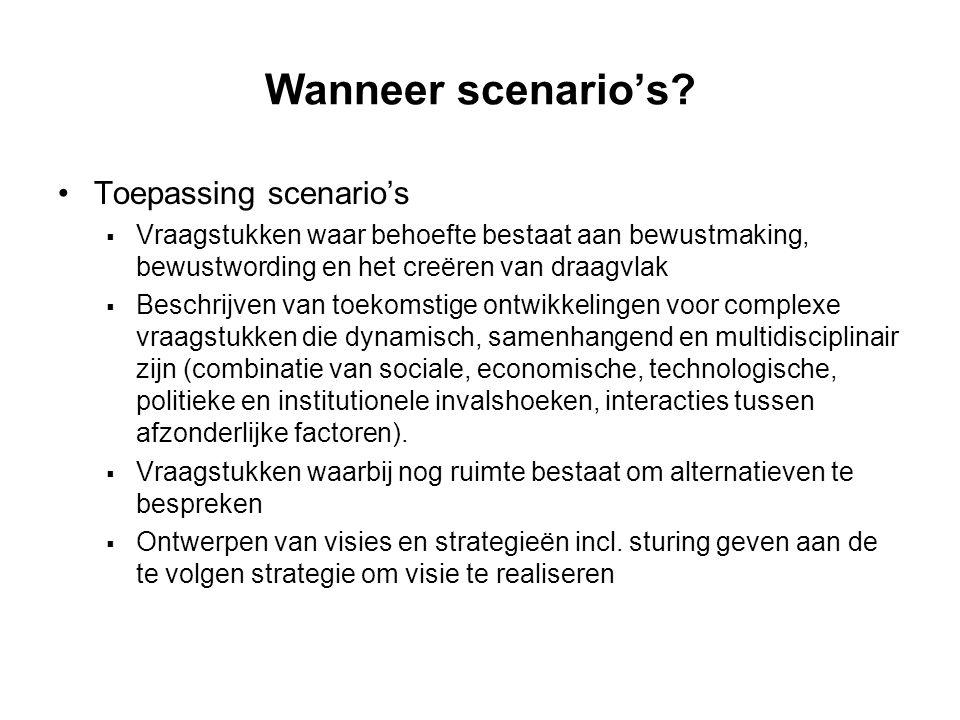 Wanneer scenario's Toepassing scenario's