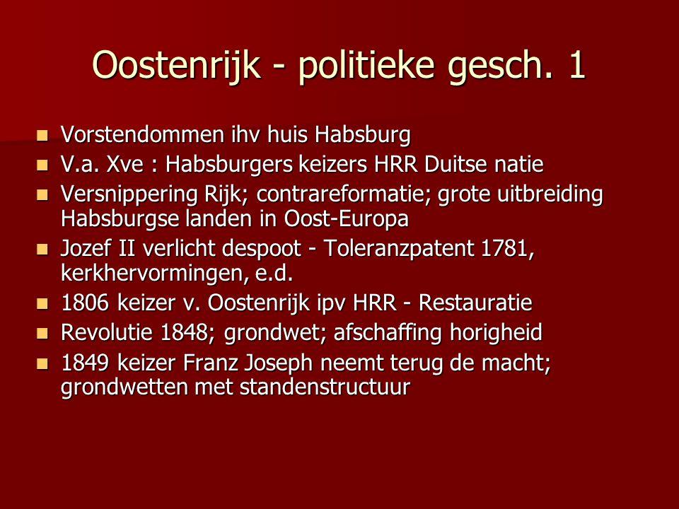 Oostenrijk - politieke gesch. 1
