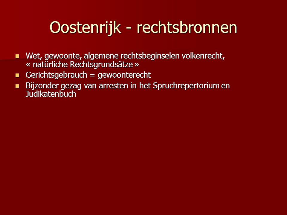Oostenrijk - rechtsbronnen