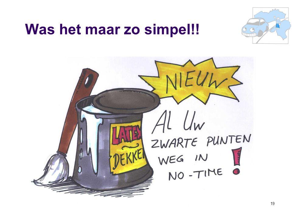 Was het maar zo simpel!! 36e Prof. R. Van Cauterenleerstoel