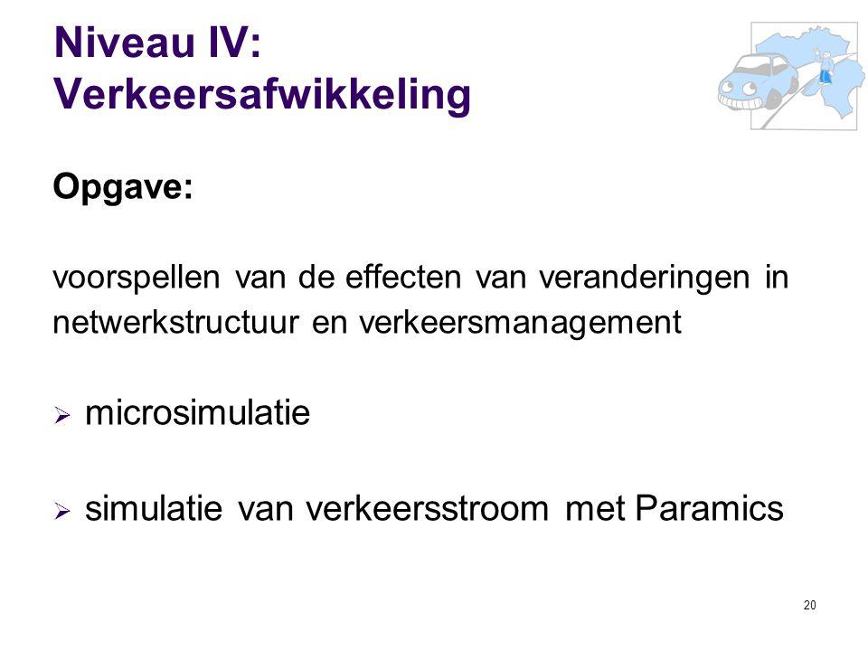 Niveau IV: Verkeersafwikkeling