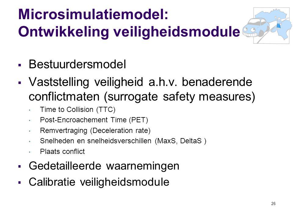 Microsimulatiemodel: Ontwikkeling veiligheidsmodule