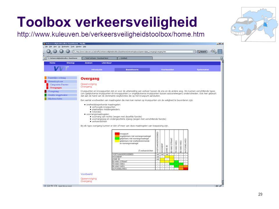 Toolbox verkeersveiligheid http://www. kuleuven