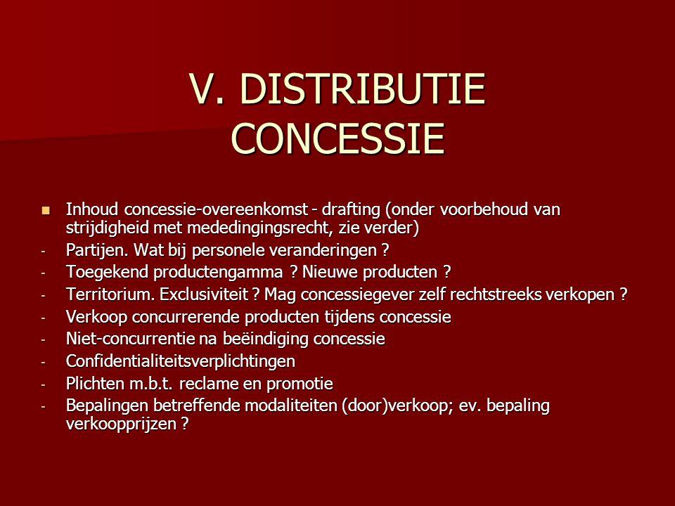 V. DISTRIBUTIE CONCESSIE