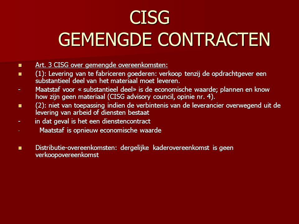 CISG GEMENGDE CONTRACTEN