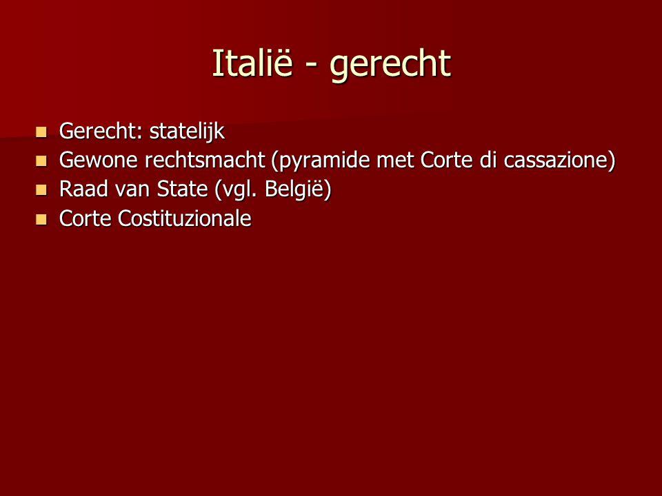 Italië - gerecht Gerecht: statelijk