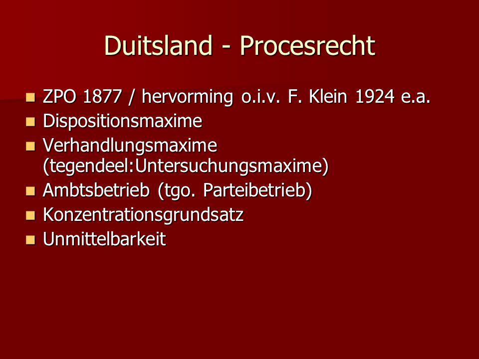 Duitsland - Procesrecht