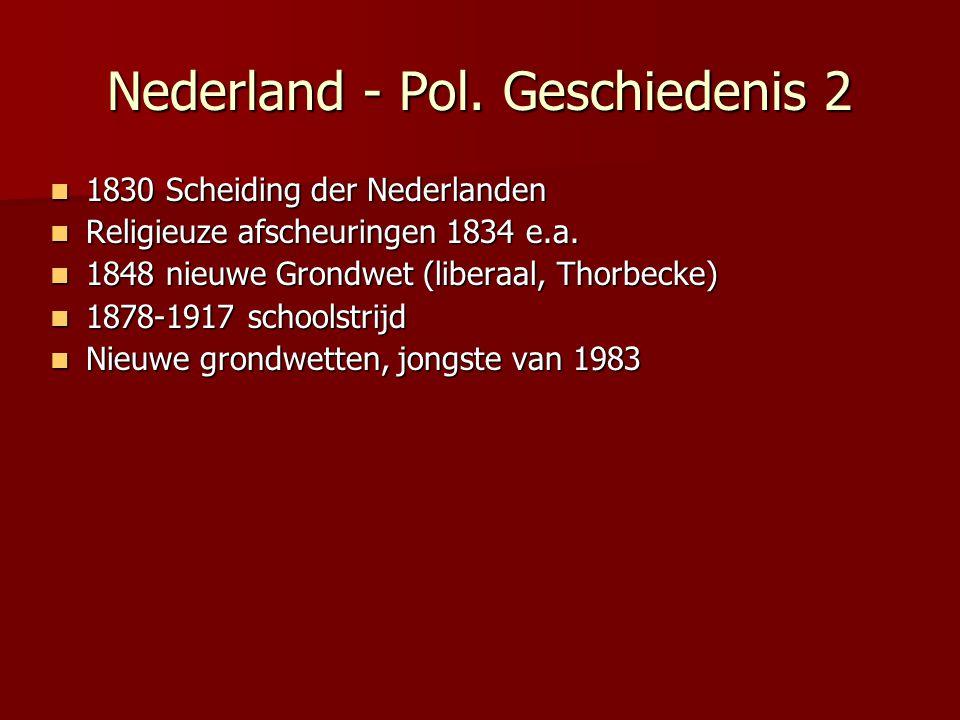 Nederland - Pol. Geschiedenis 2