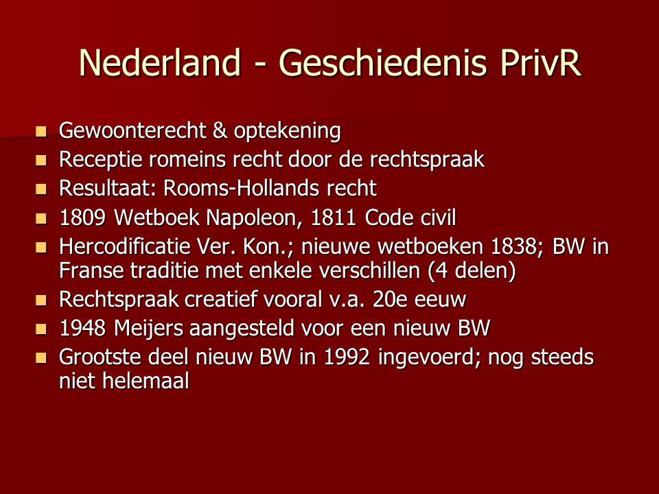 Nederland - Geschiedenis PrivR