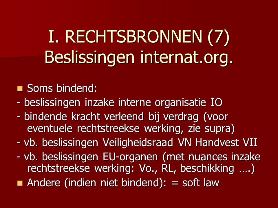 I. RECHTSBRONNEN (7) Beslissingen internat.org.