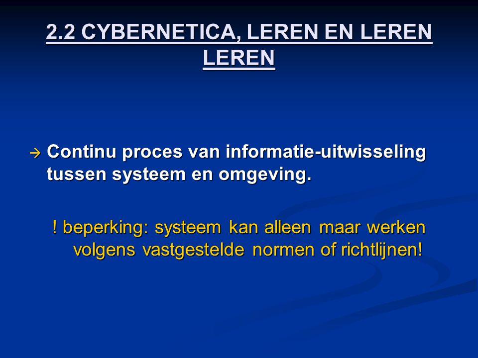 2.2 CYBERNETICA, LEREN EN LEREN LEREN