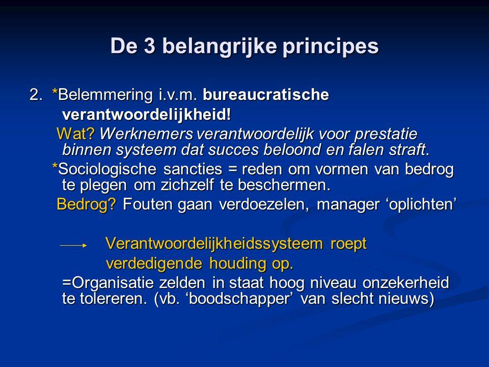 De 3 belangrijke principes