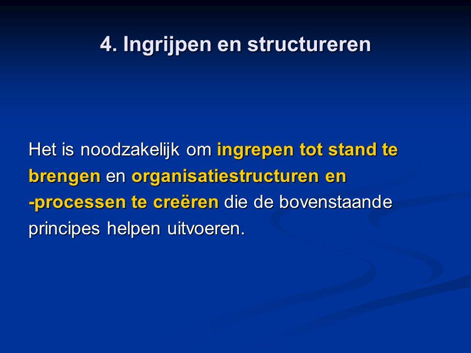 4. Ingrijpen en structureren
